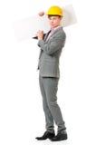 Homem no chapéu duro Imagem de Stock Royalty Free