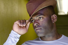 Homem no chapéu Fotografia de Stock Royalty Free