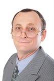 Homem no close-up cinzento do terno foto de stock royalty free