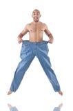 Homem no conceito de dieta Fotografia de Stock