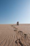 Homem no deserto Imagem de Stock