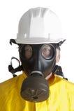 Homem no equipamento do hazmat Imagem de Stock