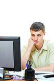 Homem no escritório fotografia de stock