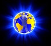 Homem no globo Foto de Stock