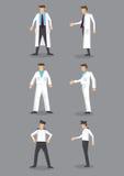 Homem no grupo uniforme branco do ícone do vetor da ocupação Imagem de Stock Royalty Free