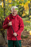 Homem no jardim Foto de Stock Royalty Free