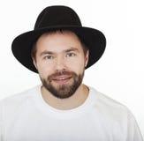 Homem no kneych judaico do chapéu. Imagem de Stock