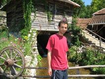 Homem no moinho Foto de Stock