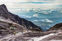 Homem no Monte Kinabalu, Sabah, Bornéu Foto de Stock