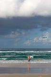 Homem no oceano Fotografia de Stock Royalty Free