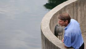 Homem no pensamento Foto de Stock Royalty Free