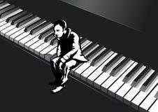 Homem no piano ilustração stock
