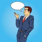 Homem no PNF Art Style com bolha para a expressão Fotografia de Stock