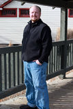 Homem no preto Imagem de Stock