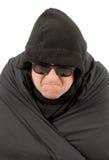 Homem no preto Foto de Stock