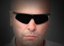Homem no preto Imagem de Stock Royalty Free