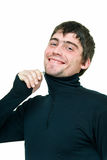 Homem no preto Fotografia de Stock Royalty Free