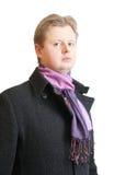 Homem no revestimento preto Imagem de Stock