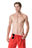 Homem no swimwear Foto de Stock