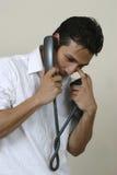 Homem no telefone Fotografia de Stock Royalty Free
