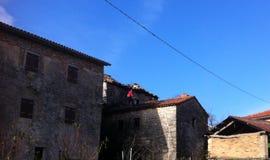 Homem no telhado Imagem de Stock