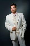 Homem no terno branco Imagem de Stock