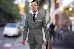 Homem de negócios fora imagens de stock royalty free