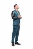 Homem no terno engraçado Imagem de Stock Royalty Free