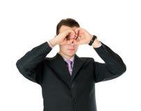 Homem no terno que olha distante Imagem de Stock Royalty Free