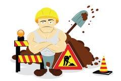 Homem no trabalho ilustração stock