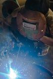Homem no trabalho da soldadura Imagem de Stock Royalty Free
