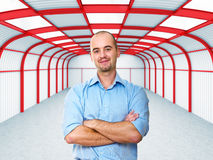 Homem no trabalho no armazém Imagem de Stock