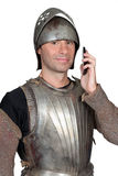 Homem no traje do soldado Fotos de Stock