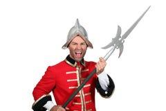 Homem no traje do soldado Foto de Stock Royalty Free