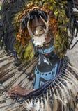 Homem no traje indiano do Maya em Tulum, México Fotografia de Stock Royalty Free