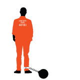 Homem no vetor da cadeia em colorido Imagens de Stock Royalty Free