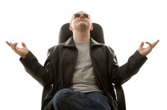Homem nos óculos de sol Fotografia de Stock Royalty Free