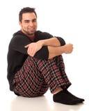Homem nos pijamas Imagens de Stock
