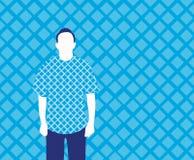 Homem nos Rhombuses Fotos de Stock
