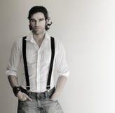Homem nos suspenders Imagem de Stock Royalty Free
