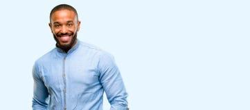 Homem novo africano sobre o fundo branco imagens de stock royalty free