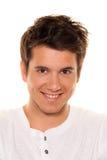 Homem novo, agradável, sorriso amigável. Retrato Imagens de Stock Royalty Free