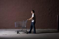 Homem novo ao ar livre na noite Imagens de Stock Royalty Free