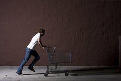 Homem novo ao ar livre na noite Fotografia de Stock Royalty Free