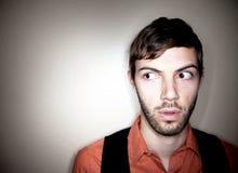 Homem novo apreensivo Fotografia de Stock