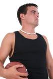 Homem novo atlético com futebol fotos de stock royalty free