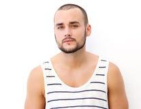 Homem novo atrativo com barba fotos de stock