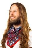 Homem novo calmo, feliz que olha fixamente no cópia-espaço. Imagem de Stock Royalty Free