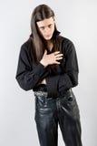 Homem novo com cabelo longo Fotos de Stock Royalty Free