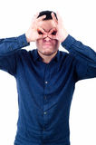 Homem novo com expressão engraçada Fotos de Stock Royalty Free